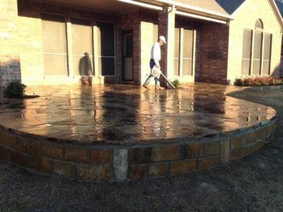 817 759 0102 Fort Worth Patio Contractors Installs Curved Flagstone Patio