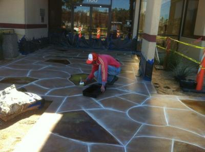 817 759 0102 Fort Worth Concrete Contractors Installs Concrete Patio With  Hand Stained And Hand Scores
