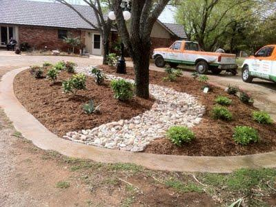 Fort Worth Rock Landscaping Circular Drives Fort Worth Tx