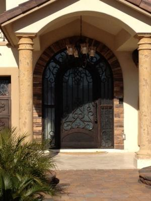 Custom Iron Entry Door Los Angeles Ca 90045 Iron Railing