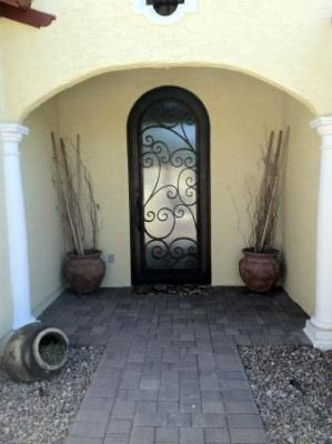 & Beautiful Iron Entry Door in Scottsdale Phoenix Glendale Arizona