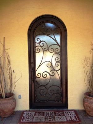 Tempe Arizona Single Iron Entry Door