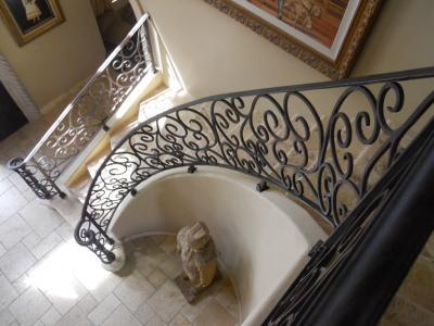 Custom wrought iron railing scottsdale az 85269 custom iron entry door - Give home signature look elegant balustrades ...