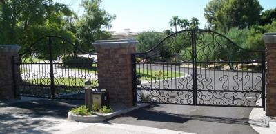 Wrought Iron Driveway Gates In Pheonix Arizona
