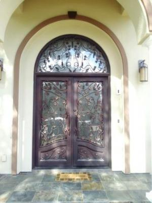 Custom Wrought Iron Entry Doors San Jose Los Gatos Santa Clara