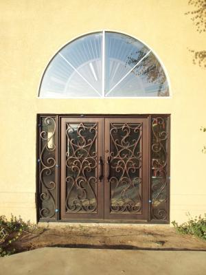 Custom Wrought Iron Entry Doors Fresno Clovis Madera