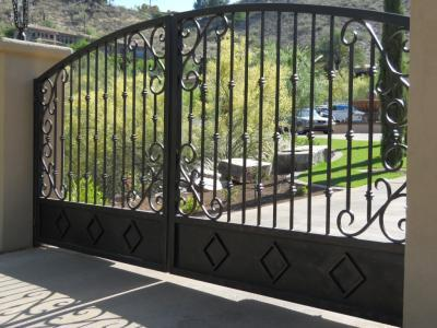 Wrought Iron Driveway Gates In Pheonix Arizona