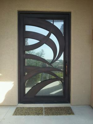 Wrought Iron Entry Door East Mesa Gilbert Fountain Hills Arizona