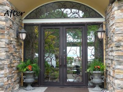 Iron Entry Door Edmonds Wa 98020 Custom Iron Garage Door Custom