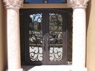 Wrought Iron Double Entry Doors Scottsdale Paradise