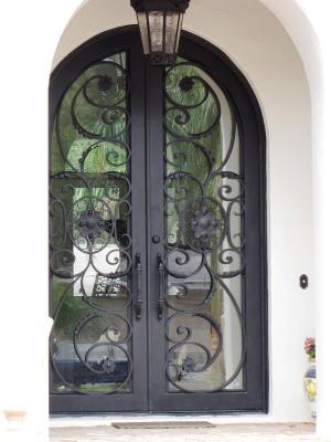 Custom Iron Entry Doors In Atherton Ca Wrought Iron Railing