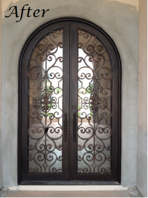 Beautiful Custom Iron Entry Door Before And After In